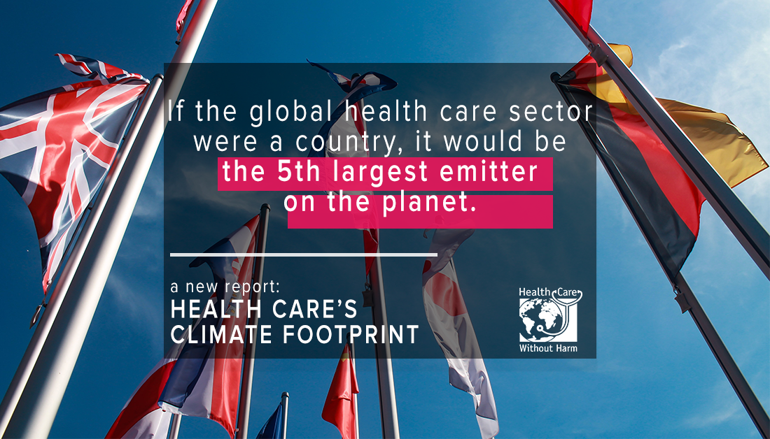 If the global health care sector were a country, it would be the 5th largest emitter on the planet